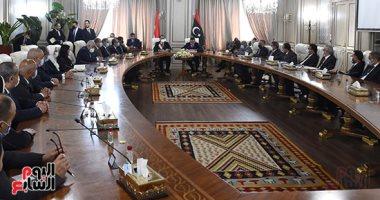 جلسة مباحات موسعة بين رئيس الوزراء المصرى واللليبي