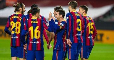صورة ثنائية ميسي تقود برشلونة لاكتساح خيتافي بخماسية فى الدوري الإسباني.. فيديو