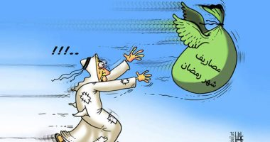 """الإسراف في الطعام والشراب خلال """"رمضان"""" في رسم كاريكاتيري إماراتي"""