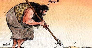 كاريكاتير إماراتى يجسد المعركة بين الرجعية والإبداع