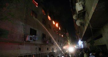 حريق هائل يلتهم كنيسة مارمينا بالعمرانية.. والحماية المدنية تتمكن من إخماده (ألبوم صور)