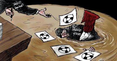 الاقتصاد اللبنانى يغرق وسط أزمة تشكيل الحكومة بكاريكاتير سعودى