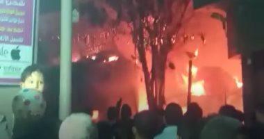 الحماية المدنية تنجح فى السيطرة على حريق عقار الكيت كات.. فيديو