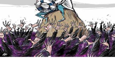 السعودية نيوز |                                              شعوب العالم تطالب منظمة الصحة العالمية بطوق النجاة من كورونا فى كاريكاتير سعودى