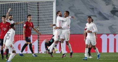 ريال مدريد يواصل مطاردة أتلتيكو بفوز مثير على أوساسونا في الليجا.. فيديو