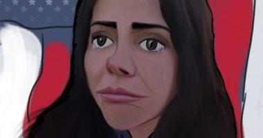 """عينان اعتادتا البكاء ولغة جسد تعكس التوتر.. """"هنا"""" فى لعبة نيوتن أقوى عودة لمنى زكى"""