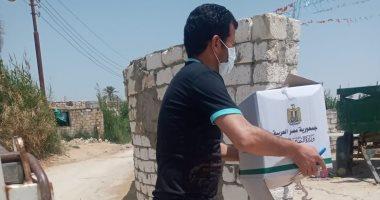 ذبح 20 عجلا وتوزيع مواد غذائية على الأسر الأكثر احتياجا بمبادرة حياة كريمة بالبحيرة