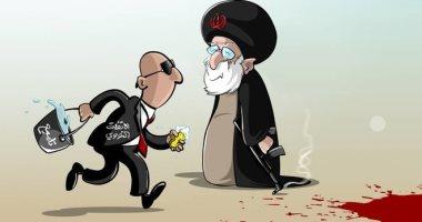 السعودية نيوز |                                              الاتفاق النووى يهدف إلى تلميع الوجه الآخر لإيران فى كاريكاتير سعودى