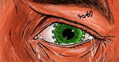 أوروبا تئن من ارتفاع إصابات فيروس كورونا فى كاريكاتير اماراتى