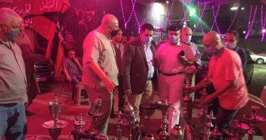 محافظة القاهرة تعلن مصادرة 2500 شيشة خلال حملات على المقاهى