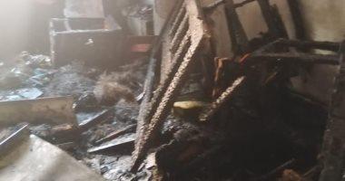 السيطرة على حريق شقة فى طوخ بالقليوبية دون خسائر بالأرواح.. صور