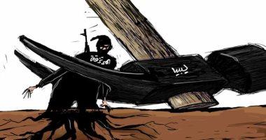 السعودية نيوز                                                المرتزقة فى ليبيا أشجار بجذور عميقة يجب اقتلاعها بكاريكاتير سعودى