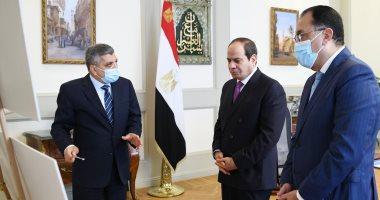 الرئيس السيسى يجدد تقديره للإدارة الناجحة لأزمة السفينة ويوجه باستمرار التطوير