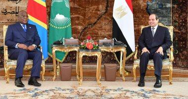 الرئيس السيسي لرئيس الكونغو: مصر لن تقبل بالمساس بأمنها المائى