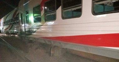 صور حادث قطار العياط