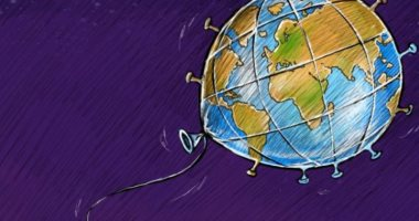 السعودية نيوز |                                              كاريكاتير صحيفة سعودية.. فيروس كورونا يهيمن على العالم