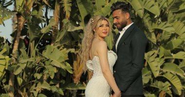 أبو جبل يحتفل بعيد الفطر الأول مع زوجته سمارة: كل عام وانتى عيدى.. صور