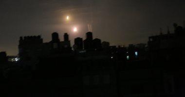 جانب من انقطاع التيار الكهربى فى غزة
