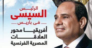 الرئيس السيسى فى باريس.. أفريقيا محور العلاقات المصرية الفرنسية.. إنفوجراف