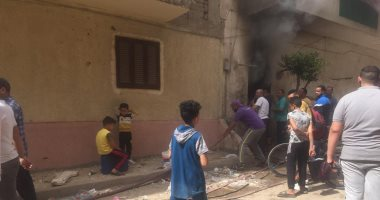 صورة إصابة مسن فى حريق منزله بحى السلام بالإسماعيلية.. صور