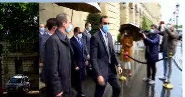 الرئيس السيسي يصل مقر مؤتمر باريس لدعم المرحلة الانتقالية فى السودان