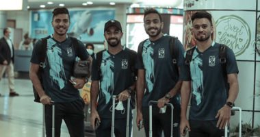 لاعبو الأهلى فى مطار القاهرة قبل السفر لجنوب أفريقيا.. ألبوم صور