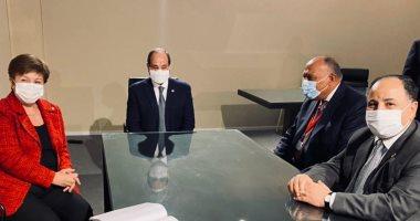 لقاء الرئيس السيسي ومديرة صندوق النقد الدولي كريستالينا جيورجييفا