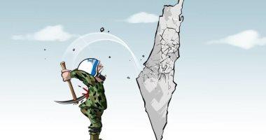 السعودية نيوز |                                              إصابات جنود الاحتلال ناتجة عن عدوانهم على الأراضى الفلسطينية فى كاريكاتير اليوم