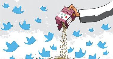 السعودية نيوز |                                              مواقع التواصل الاجتماعى تتغذى على الأخبار المفبركة في كاريكاتير سعودى
