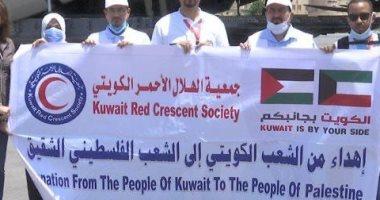 قافلة مساعدات كويتية تعبر رفح اليوم إلى غزة