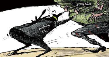 السعودية نيوز                                                الشارع العراقى يتصدى لمؤامرات المليشيات فى كاريكاتير سعودي