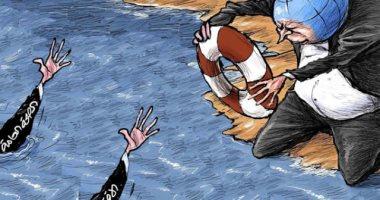 السعودية نيوز |                                              العالم يواجه صعوبة فى إنقاذ الصحة او الاقتصاد بسبب كورونا فى كاريكاتير سعودى