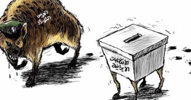 السعودية نيوز |                                              الحرس الثورى يحاول السيطرة على الانتخابات الإيرانية فى كاريكاتير سعودى