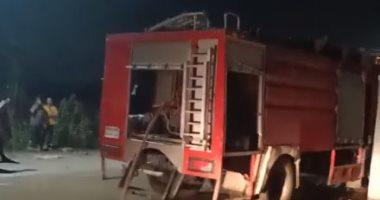 إصابة 6 أشخاص باختناق إثر حريق بمنزل داخل قرية إهوه ببنى سويف