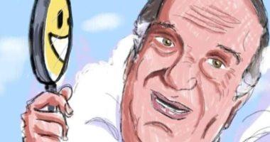 ذكرى رحيل الجوكر حسن حسني في كاريكاتير اليوم السابع