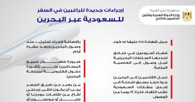 السعودية نيوز |                                              وزارة الهجرة تعلن إجراءات جديدة للراغبين فى السفر للسعودية عبر البحرين حاليا