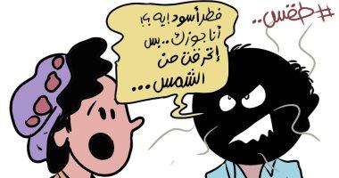 اضحك مع الموجة الحارة وتوابعها في كاريكاتير اليوم السابع