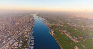"""سحر نهر النيل والطبيعة الخلابة فى الأقصر من أعلى رحلات البالون الطائر """"صور"""""""