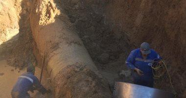 قطع المياه عن مدينة الغردقة بداية من اليوم بسبب كسر بخط الكريمات ..صور
