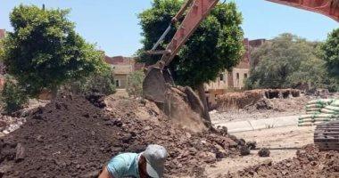 الانتهاء من الرفع المساحى لمشروع الصرف الصحي بشوارع كوم الصعايدة ببنى سويف