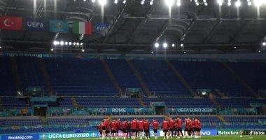 اللمسات الأخيرة فى استعدادات منتخبى إيطاليا وتركيا لمواجهة افتتاح يورو 2020