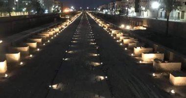 صور ساحرة لـ طريق الكباش بالأقصر ليلا قبل افتتاحه فى حفل عالمى