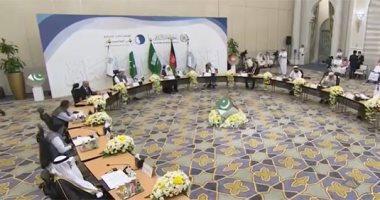 """شاهد.. كبار علماء باكستان وأفغانستان يوقعون """"إعلان السلام فى أفغانستان"""" بجوار البيت الحرام"""