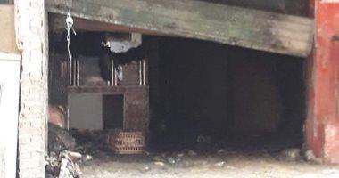 ماس كهربى وراء حريق مقلة ومصرع شخصين فى بولاق الدكرور.. صور