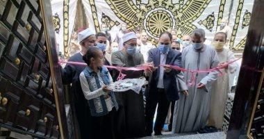عمرو درويش نائب تنسيقية شباب الأحزاب يفتتح مسجد الروضة الشريفة في بنها