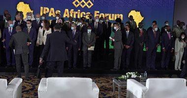 رئيس الوزراء يلتقط صورة تذكارية مع رؤساء هيئات الاستثمار الأفريقية.. صور