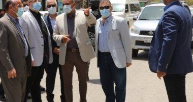 """محافظ بنى سويف يوجه بتجميل ميدان الشهيد """"محمد هارون"""""""