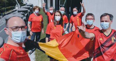 """يورو 2020.. الحكومة البلجيكية ترتدي قمصان المنتخب لدعم """"الشياطين الحمر"""""""