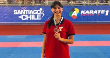 ياسمين حمدى بطلة الكاراتية تفشل فى التأهل إلى أولمبياد طوكيو