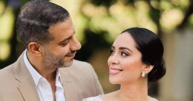 عقد قران محمد فراج وبسنت شوقى بحضور عدد كبير من نجوم الفن.. فيديو